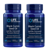 Life Extension Black Cumin Seed Oil With Bio-curcumin® | 60 Softgels, 2-pack