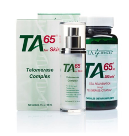 T.A. Sciences BUNDLE: 1 x TA-65MD 100IE (30 capsules), 1 x TA-65 For Skin (30ml)