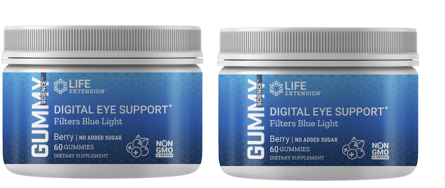 Life Extension Gummy Science™ Digital Eye Support (berry), 60 Gummies, 2-packs