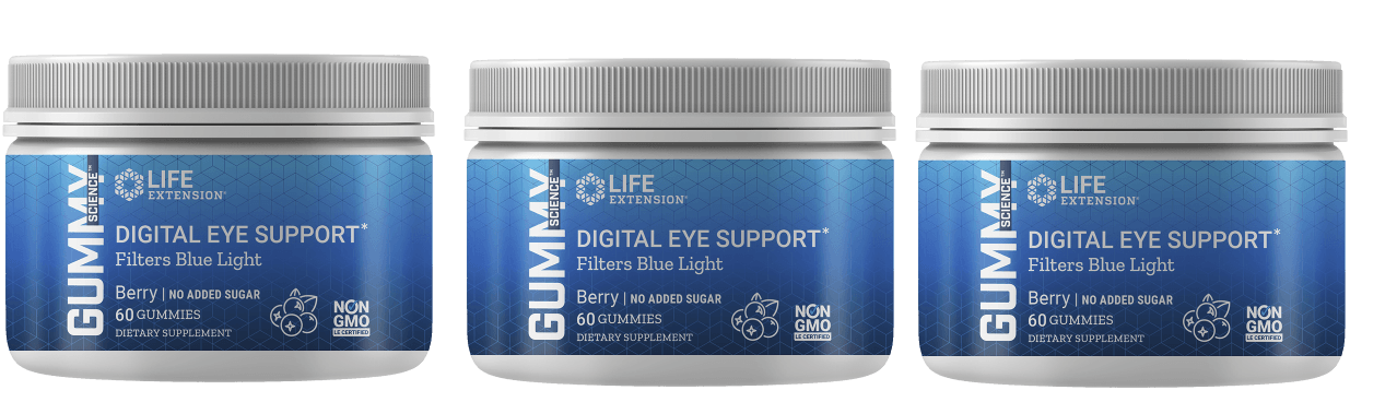 Life Extension Gummy Science™ Digital Eye Support (berry), 60 Gummies, 3-packs