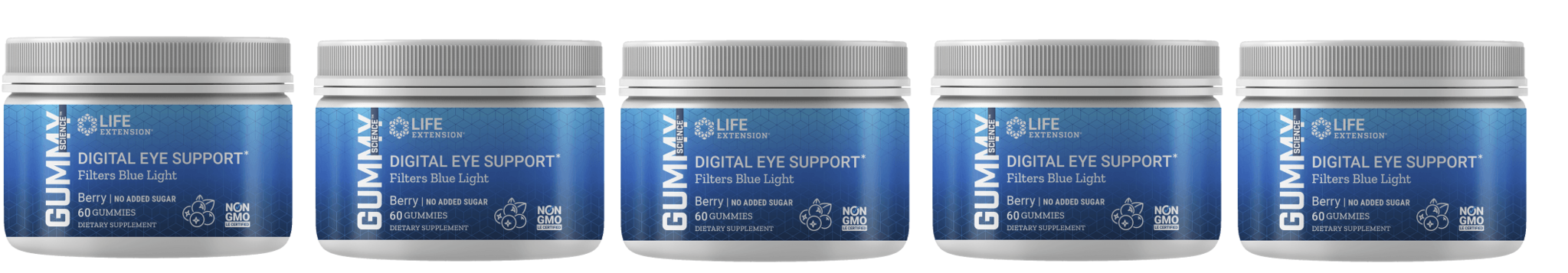 Life Extension Gummy Science™ Digital Eye Support (berry), 60 Gummies, 5-packs