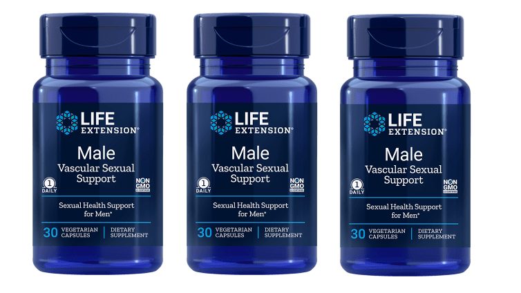 Life Extension Male Vascular Sexual Support, 30 Vegetarian Capsules, 3-packs