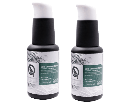 Quicksilver Scientific CBD Synergies-AX Calming Formula, 50 ml, 2-pack