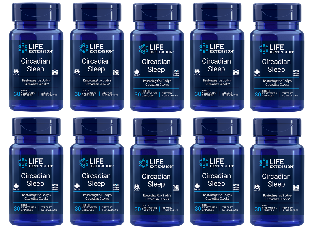 Life Extension Circadian Sleep, 30 Capsules, 10-packs