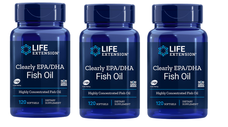 Life Extension Clearly EPA/DHA Fish Oil, 3-pack