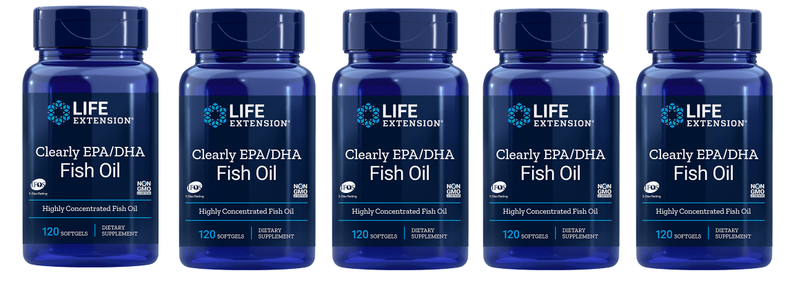 Life Extension Clearly EPA/DHA Fish Oil, 5-pack