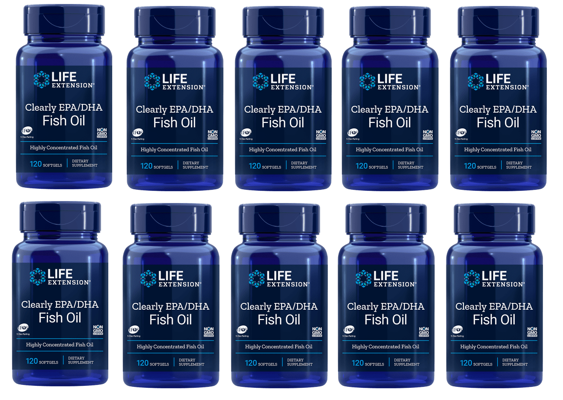 Life Extension Clearly EPA/DHA Fish Oil, 10-pack