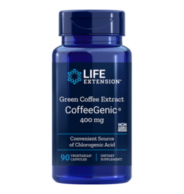 Life Extension CoffeeGenic® Green Coffee Extract, 400 mg, 90 Capsules