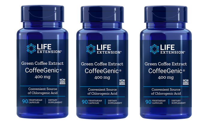 Life Extension CoffeeGenic® Green Coffee Extract, 90 Capsules, 3-packs
