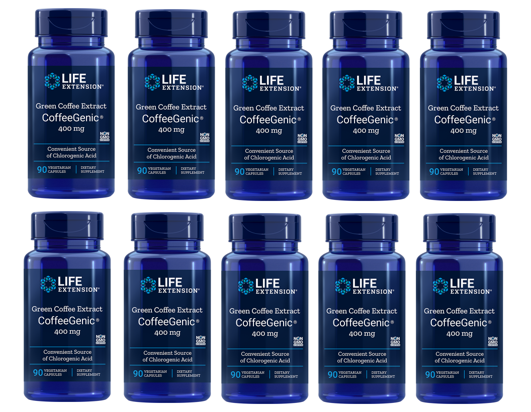 Life Extension CoffeeGenic® Green Coffee Extract, 90 Capsules, 10-packs