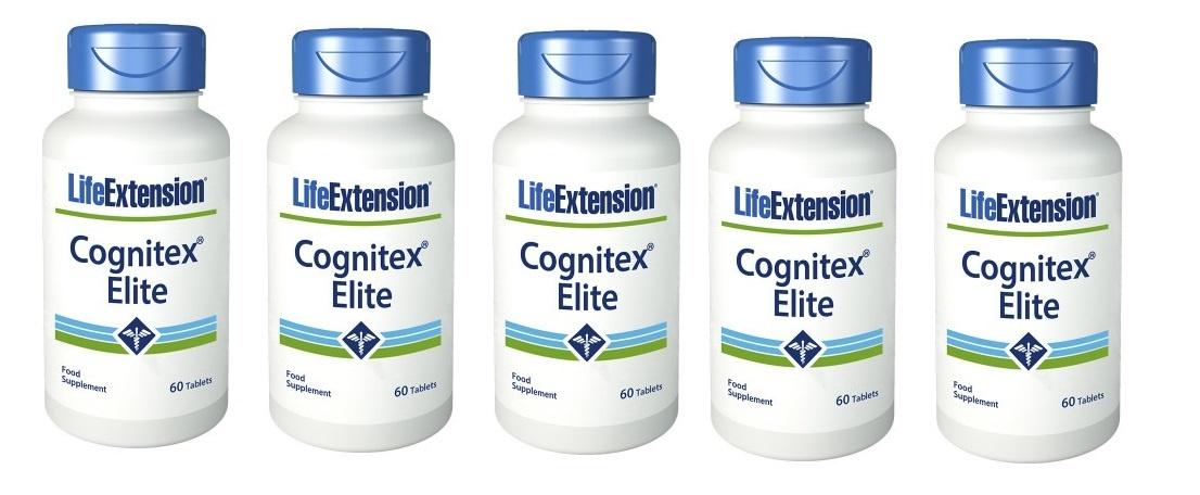 Life Extension Cognitex Elite, 60 Tablets, 5-packs