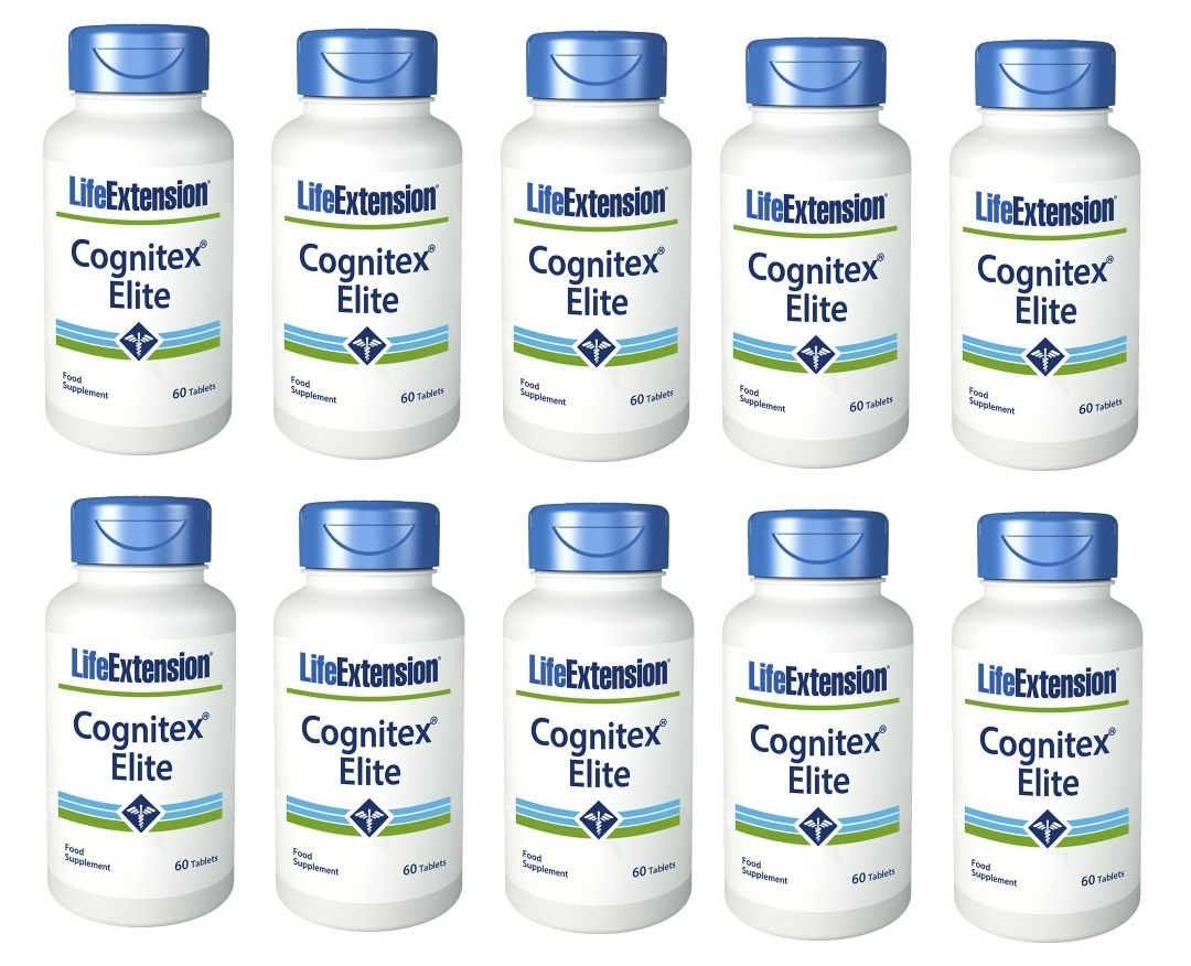 Life Extension Cognitex Elite, 60 Tablets, 10-packs