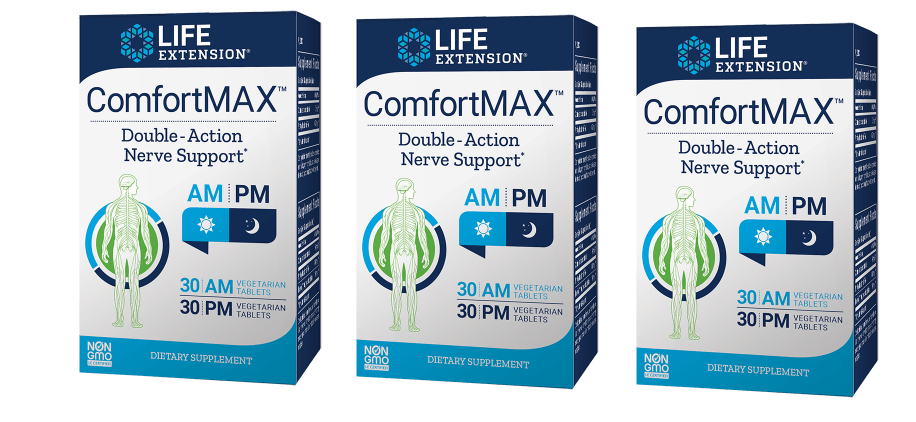 Life Extension ComfortMax™, 30 AM Vegetarian Tablets, 30 PM Vegetarian Tablets, 3-pack