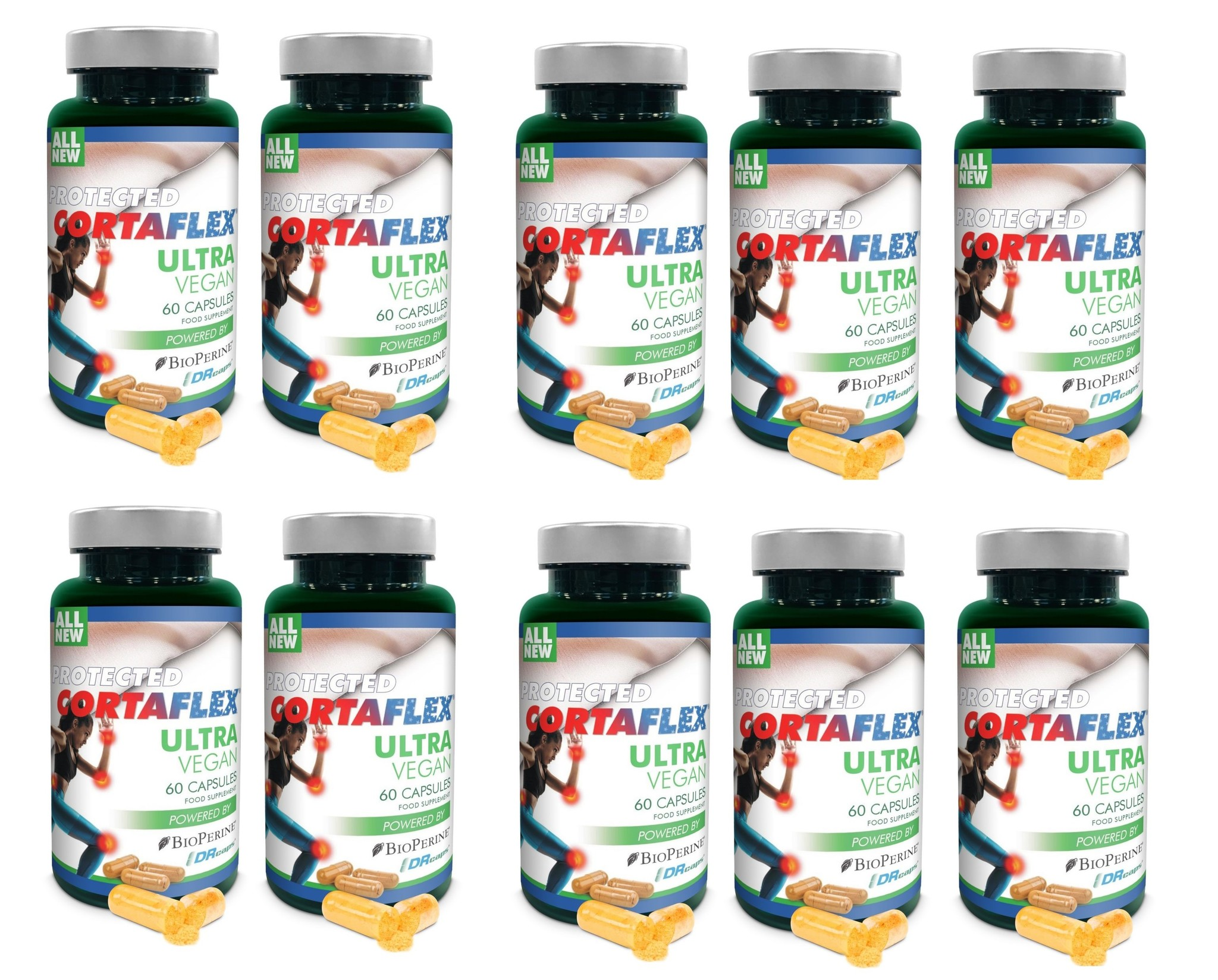 Dental Supps Protected Cortaflex Ultra Vegan, 60 Capsules, 10-packs