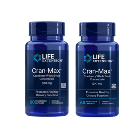 Life Extension Cran-Max Cranberry Extract, 500 mg 60 capsules, 2-pack