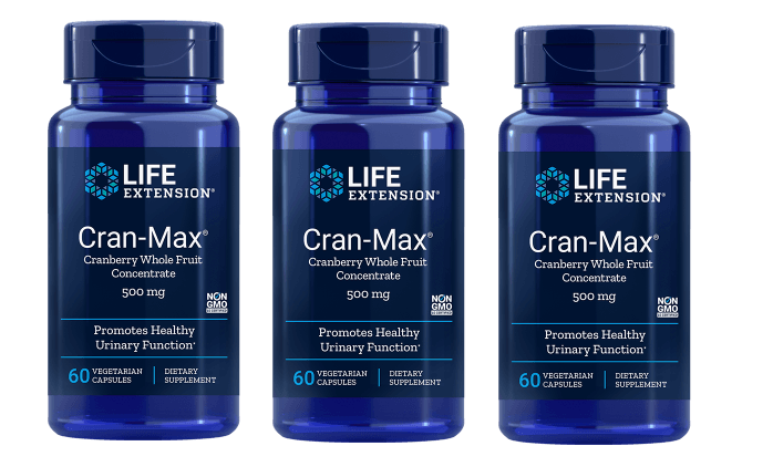 Life Extension Cran-max Cranberry Extract, 500 Mg 60 Capsules, 3-pack