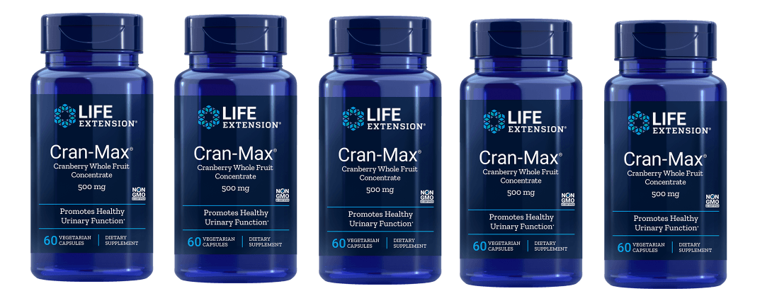 Life Extension Cran-max Cranberry Extract, 500 Mg 60 Capsules, 5-pack