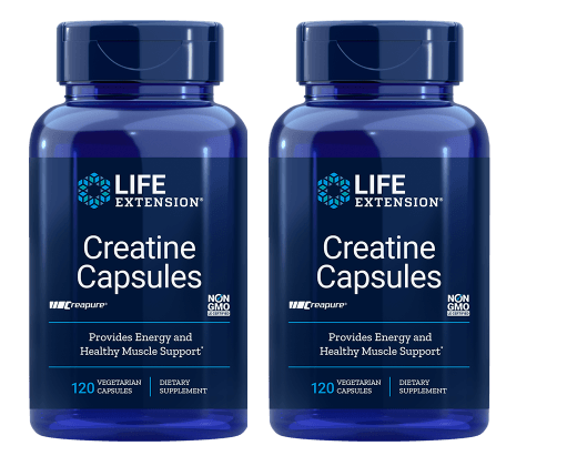 Life Extension Creatine Capsules, 120 Vegetarian Capsules, 2-pack