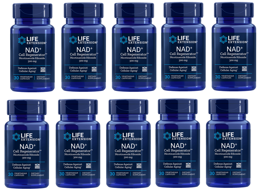 Life Extension NAD+ Cell Regenerator (300 mg, 30 Capsules), 10-pack
