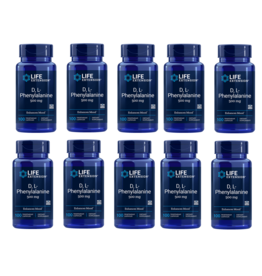 Life Extension D,L-Phenylalanine Capsules, 500 Mg 100 Vegetarian Capsules, 10-pack