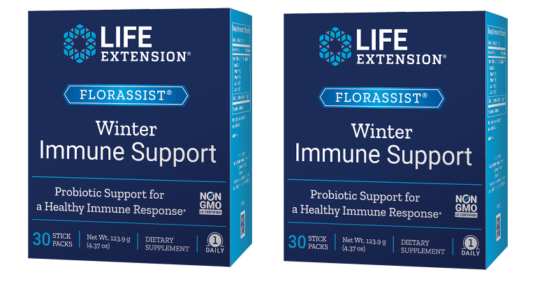 Life Extension Florassist® Winter Immune Support, 30 Stick Packs, 2-packs