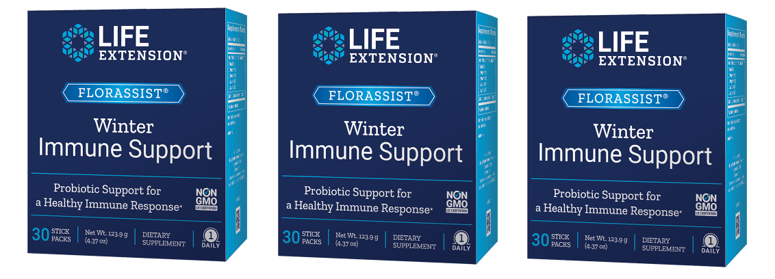 Life Extension Florassist® Winter Immune Support, 30 Stick Packs, 3-packs