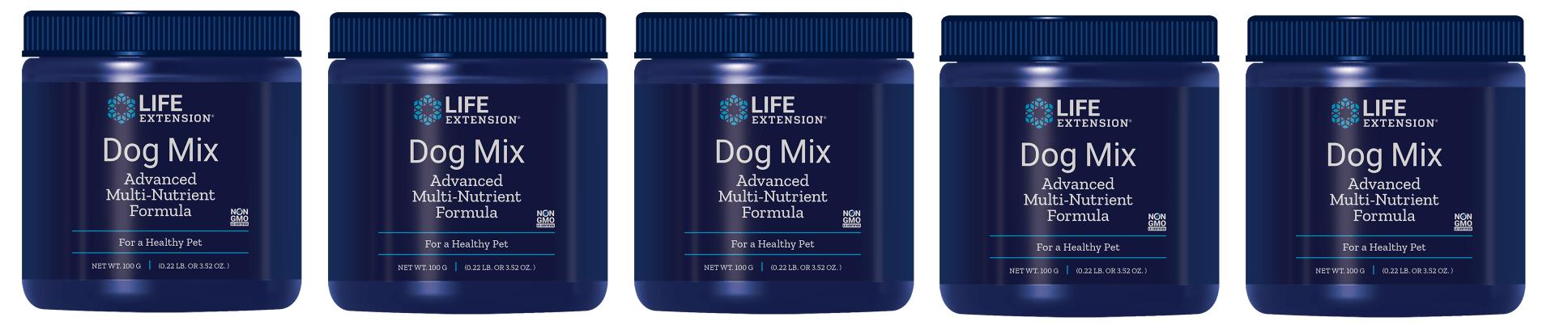 Life Extension Dog Mix (pet Vitamins), 100 Grams, 5-pack