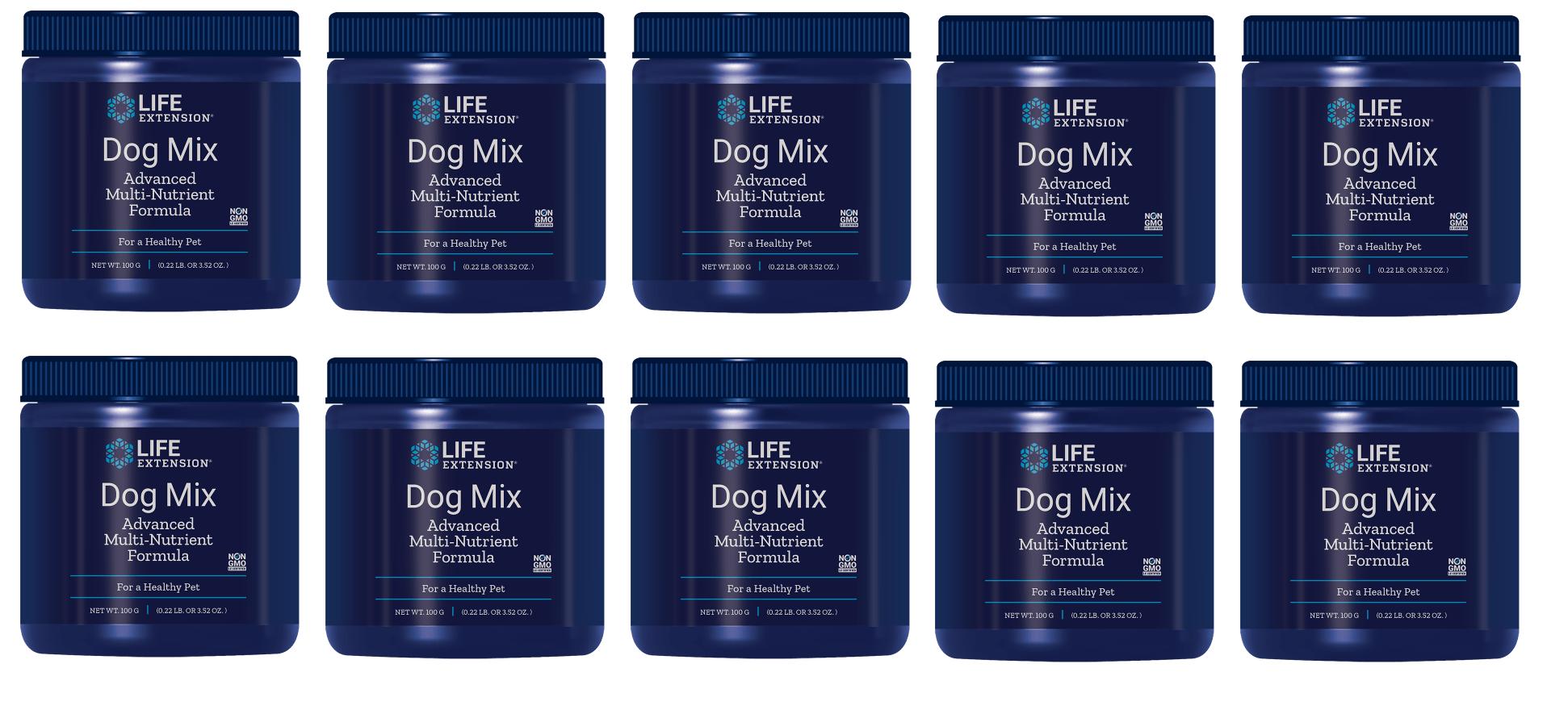 Life Extension Dog Mix (pet Vitamins), 100 Grams, 10-pack