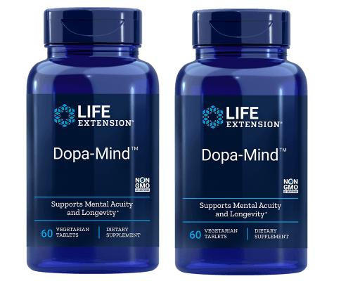 Life Extension Dopa-Mind, 60 Vegetarian Tablets, 2-pack