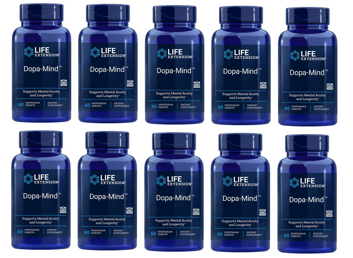 Life Extension Dopa-Mind, 60 Vegetarian Tablets, 10-pack