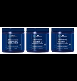 Life Extension Effervescent Vitamin C - Magnesium Crystals, Net Wt. 180 G (0.397 Lb. Or 6.35 Oz.), 3-pack