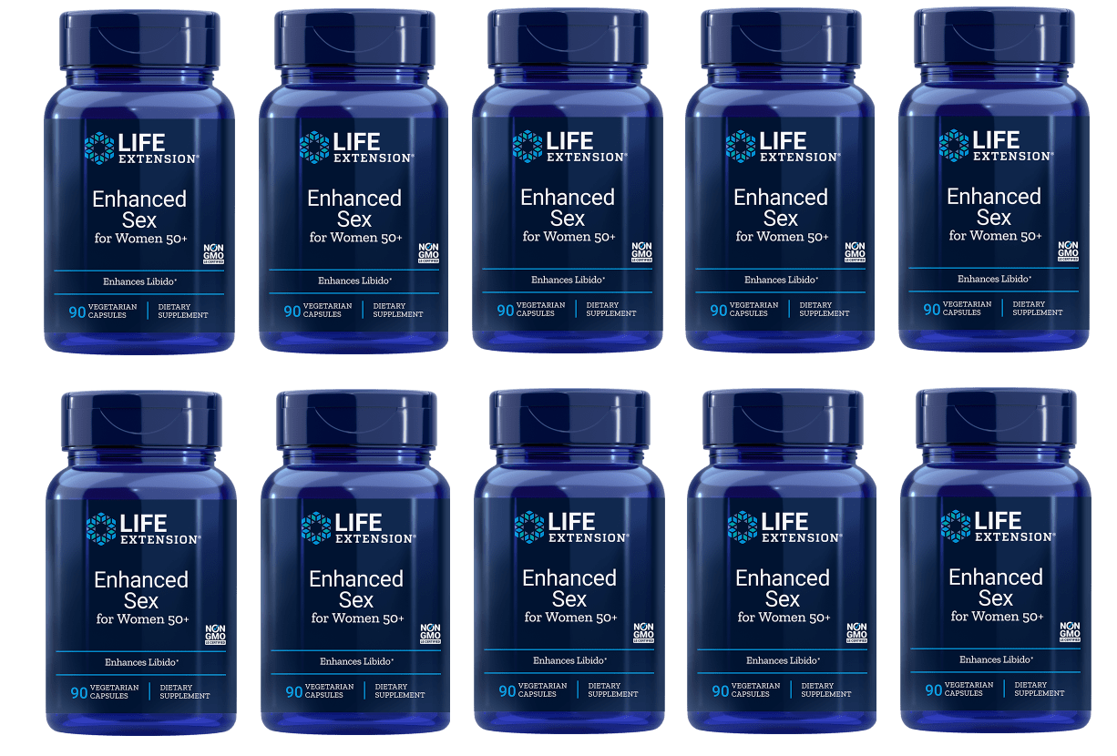 Life Extension Enhanced Sex for Women 50+, 90 vegetarian capsules, 10-pack