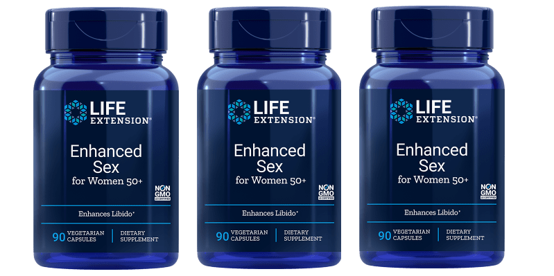 Life Extension Enhanced Sex for Women 50+, 90 vegetarian capsules, 3-pack