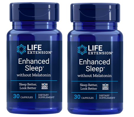 Life Extension Enhanced Sleep without Melatonin, 30 capsules, 2-pack
