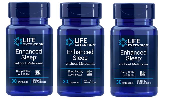 Life Extension Enhanced Sleep without Melatonin, 30 capsules, 3-pack
