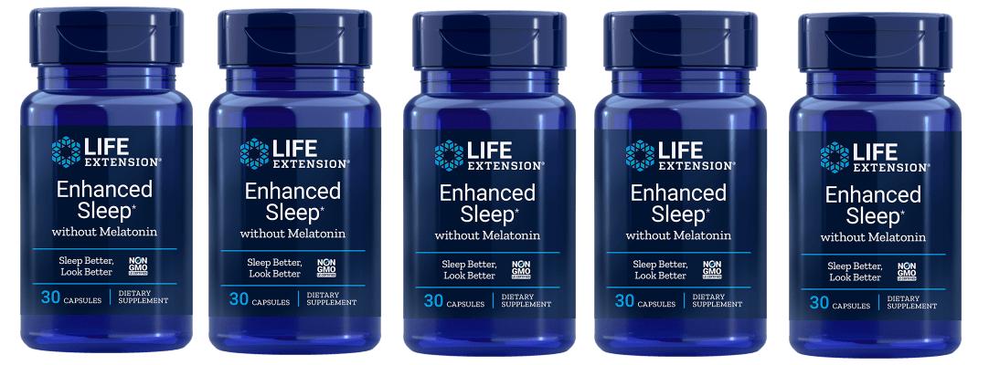 Life Extension Enhanced Sleep without Melatonin, 30 capsules, 5-pack