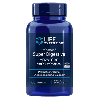 Life Extension Enhanced Super Digestive Enzymes with Probiotics, 60 Capsules