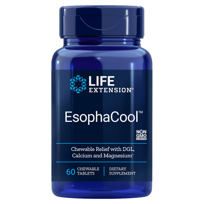 Life Extension Esophacool, 60 Chewable Tablets