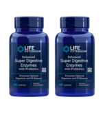 Life Extension Enhanced Super Digestive Enzymes With Probiotics, 60 Vegetarian Capsules, 2-packs