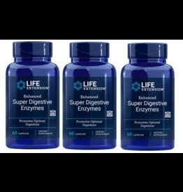 Life Extension Enhanced Super Digestive Enzymes, 60 Vegetarian Capsules, 3-packs