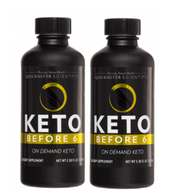 Quicksilver Scientific Keto Before 6™, 100ml, 2-pack