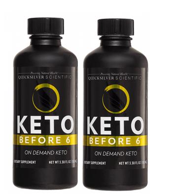 Quicksilver Scientific Keto Before 6™, 100ml, 2-pack