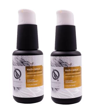 Quicksilver Scientific NAD+ Gold™, 50 ml,  2-pack