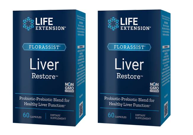 Life Extension Florassist® Liver Restore, 60 Capsules, 2-pack