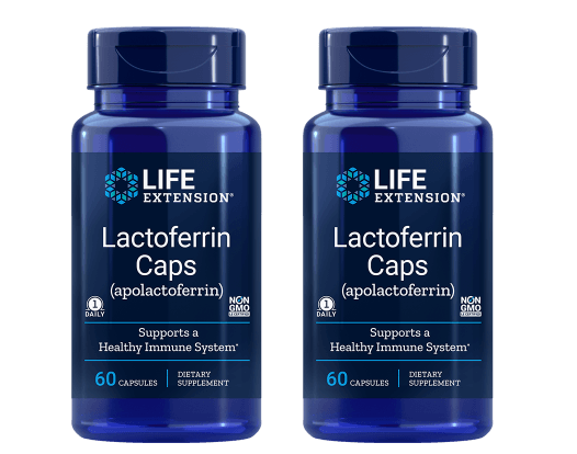 Life Extension Lactoferrin (apolactoferrin) Caps, 60 Capsules, 2-pack