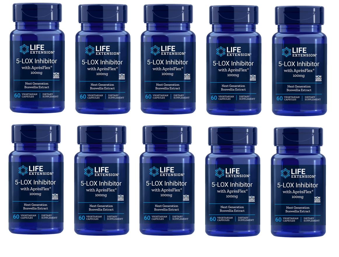 Life Extension 5-LOX Inhibitor With Aprèsflex®, 60 Vegetarian Capsules, 10-packs