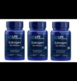 Life Extension Estrogen For Women, 30 Vegetarian Capsules, 3-pack