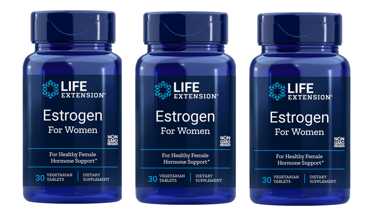Life Extension Estrogen For Women, 30 Vegetarian Capsules, 3-pack