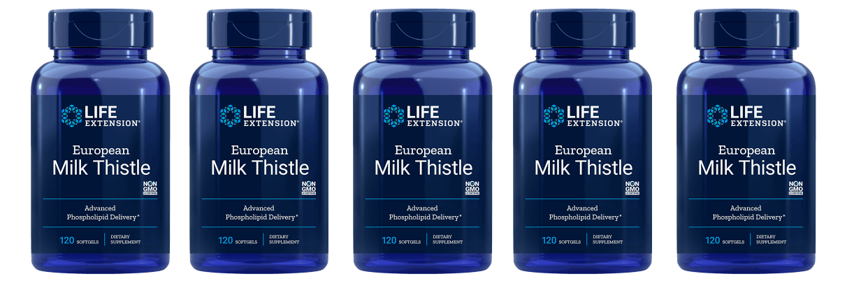 Life Extension European Milk Thistle,  120 Softgels, 5-pack