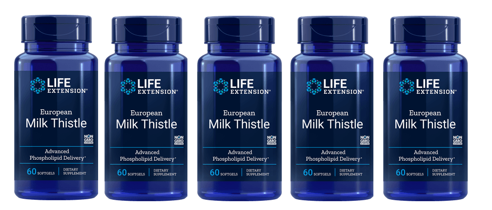 Life Extension European Milk Thistle, 60 Softgels, 5-pack